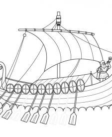 Drakkar vikingo: dibujo para colorear e imprimir
