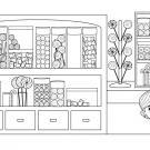 Tienda de golosinas: dibujo para colorear e imprimir