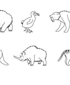 Animales desaparecidos: dibujo para colorear e imprimir