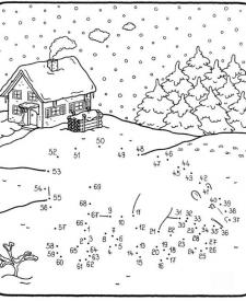 Dibujo de unir puntos de un oso: dibujo para colorear e imprimir