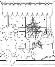 Dibujo de unir puntos de Teddy: dibujo para colorear e imprimir