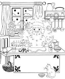 Dibujo de unir puntos de Papá Noel: dibujo para colorear e imprimir