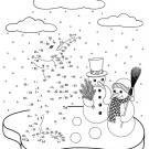 Dibujo de unir puntos de un pingüino: dibujo para colorear e imprimir