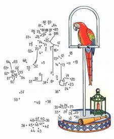 Dibujo de unir puntos de un pirata: dibujo para colorear e imprimir
