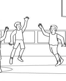 Baloncesto: dibujo para colorear e imprimir