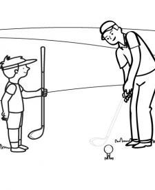 Golf: dibujo para colorear e imprimir