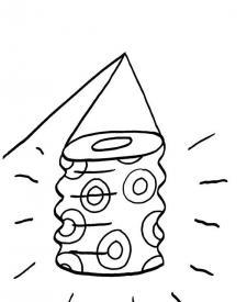 Linterna con círculos: dibujo para colorear e imprimir