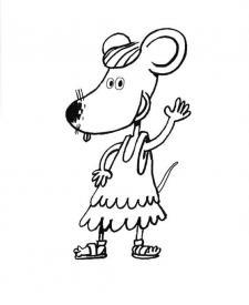 Lucy, ratón chica: dibujo para colorear e imprimir