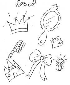 Accesorios de princesa: dibujo para colorear e imprimir