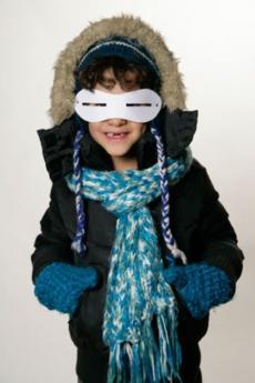 Gafas para la nieve: experimento para niños