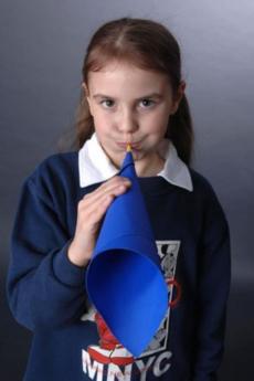 Trompeta con paja: experimento para niños sobre el sonido