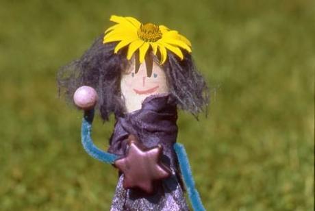 Marioneta de princesa: manualidad infantil
