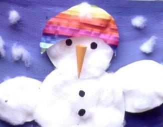 Marioneta de muñeco de nieve: manualidad para niños