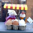 Fabricar un puesto de huevos de Pascua con los niños