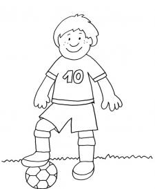 Jugador de fútbol: dibujo para colorear e imprimir
