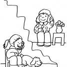 Conversación telefónica: dibujo para colorear e imprimir