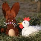 Gallina y conejo de Pascua: manualidad para niños
