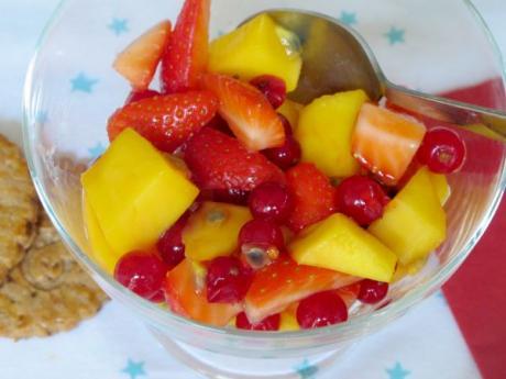 Receta de ensalada de frutas de primavera