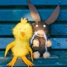 Fabricar un conejo de Pascua y su amigo el polluelo