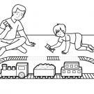 Tren eléctrico: dibujo para colorear e imprimir