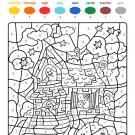 Dibujo mágico de castillo de fantasmas: dibujo para colorear e imprimir
