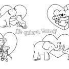 Mamás de animales: dibujo para colorear e imprimir