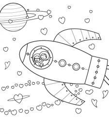 Universo para mamá: dibujo para colorear e imprimir