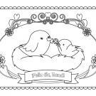 Felicitación para mamá: dibujo para colorear e imprimir