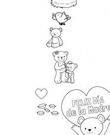 Feliz día de la madre: dibujo para colorear e imprimir