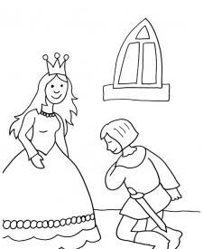 Pedida de mano de los príncipes: dibujo para colorear e imprimir