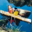 Indios en su canoa: manualidad para niños