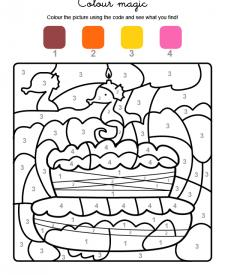 Colour by numbers: cumpleaños 3