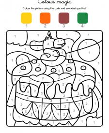 Colour by numbers: cumpleaños 5