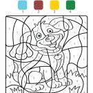Colour by numbers: un perrito