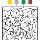 Colour by numbers: un gatito