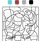 Colour by numbers: un elefante