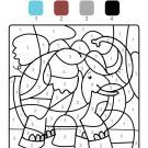 Colour by numbers: un elefante