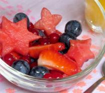 Receta de ensalada de estrellas de fruta