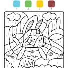 Colour by numbers: un conejo en el campo