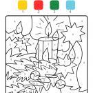 Colour by numbers: una vela de Navidad