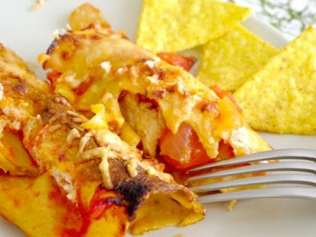 Receta de enchilada de pollo