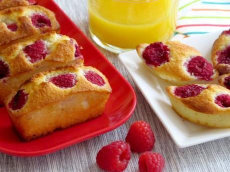 Receta de pastelitos de frambuesas y coco