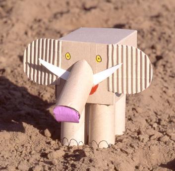 Un elefante y sus secretos: manualidad para niños