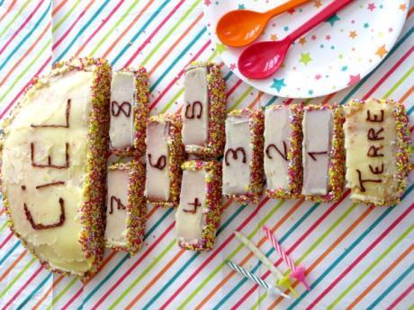 Receta de tarta con forma de rayuela