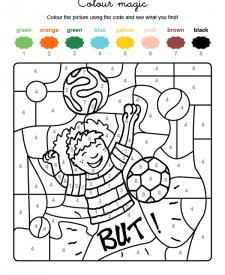 Colour by numbers: jugador de fútbol
