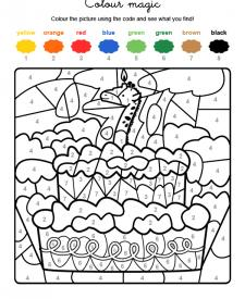 Colour by numbers: cumpleaños 7