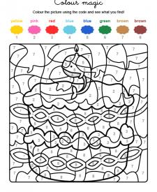 Colour by numbers: cumpleaños 9
