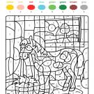 Colour by numbers: un caballo