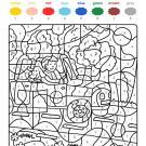 Colour by numbers: un perro de vacaciones con su amo