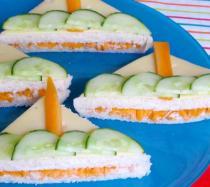 Receta de sándwiches con forma de barco
